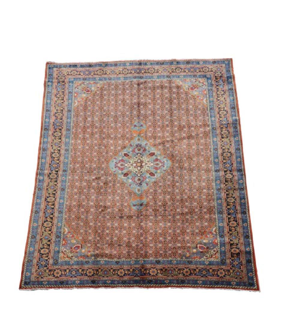 "Hand Woven Persian Tabriz Rug, 9' 7"" x 12' 10"""