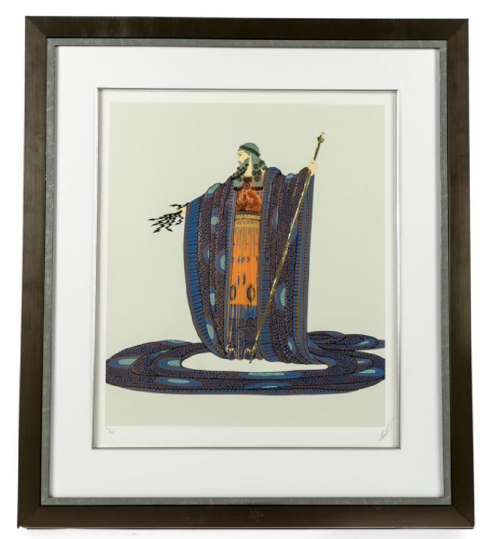 "Erte Pencil Signed Serigraph with Foil, ""Zeus"""