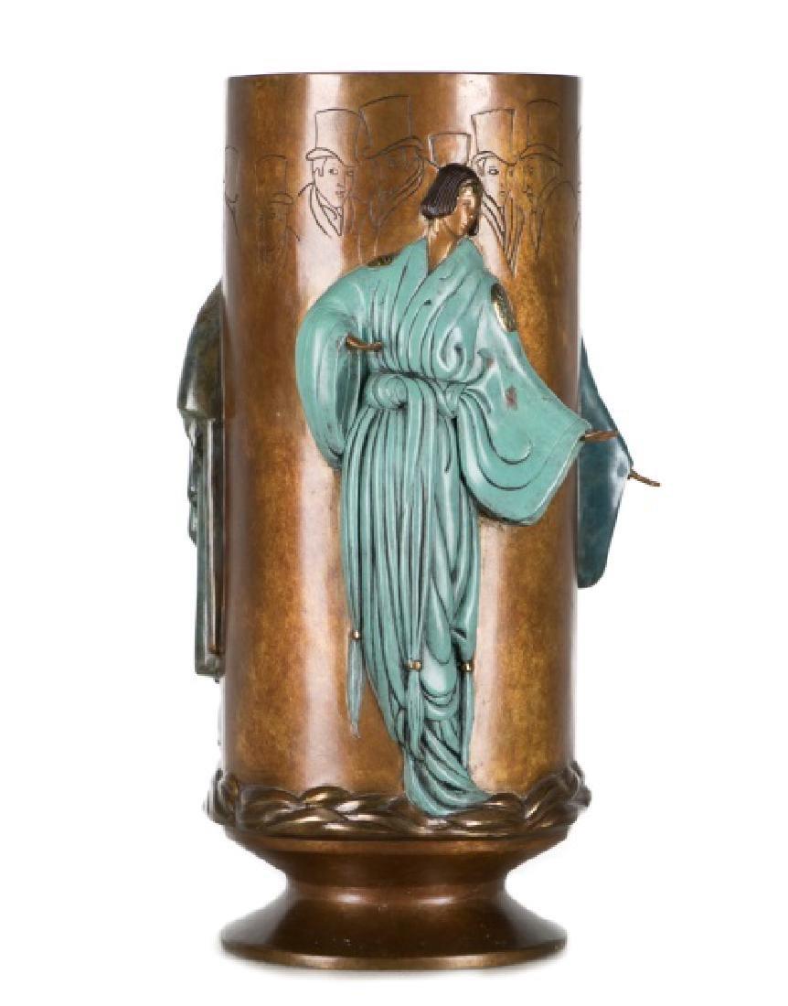"""Erte """"Fantasy"""" Limited Ed. Figural Bronze Vase"""