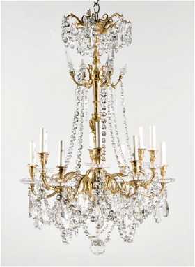 Vintage baccarat lighting for sale antique baccarat lighting baccarat crystal gilt bronze 12 light chandelier aloadofball Images