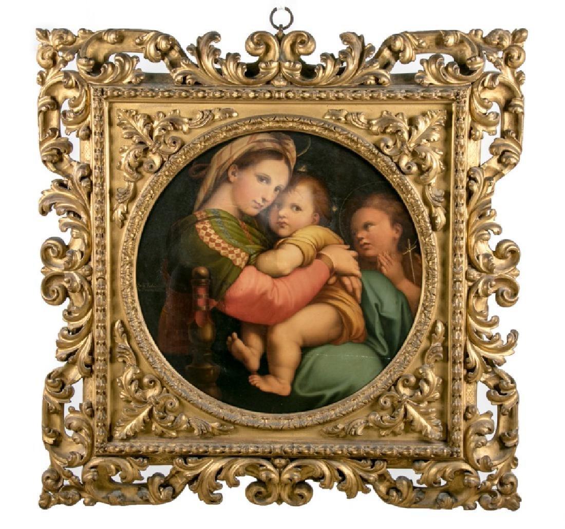 Carlo Falcini, Madonna & Child in Florentine Frame