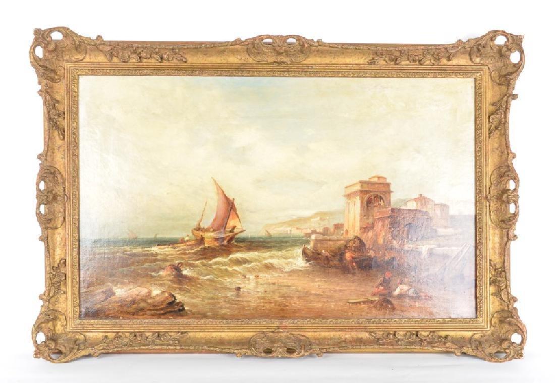 Alfred Pollentine, O/C Venetian Coastal Scene
