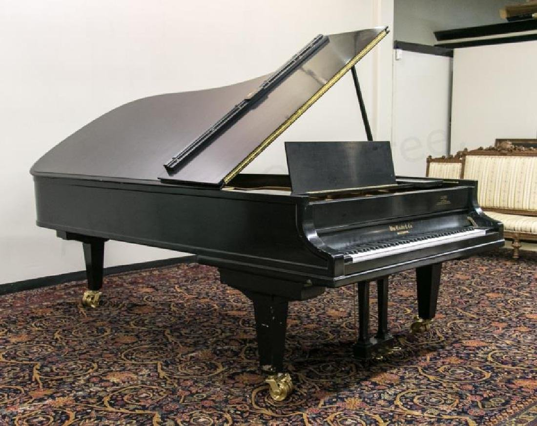 William Knabe Ebonized Concert Grand Piano