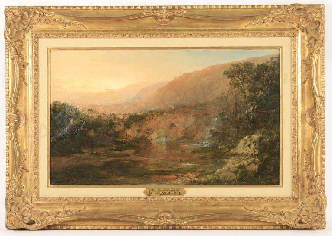 William Sonntag, Hudson River School Oil, Signed