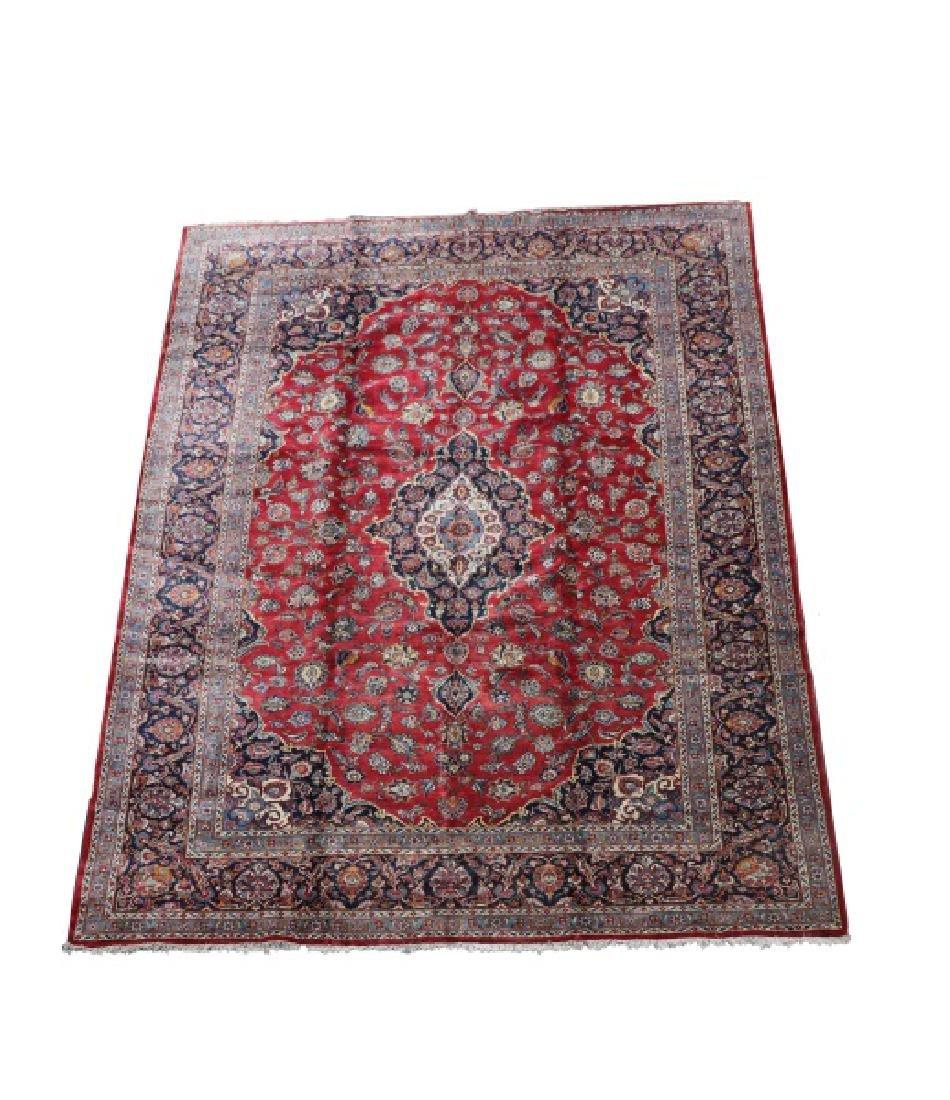 "Hand Woven Persian Kashan Rug, 10' 5"" x 14' 9"""