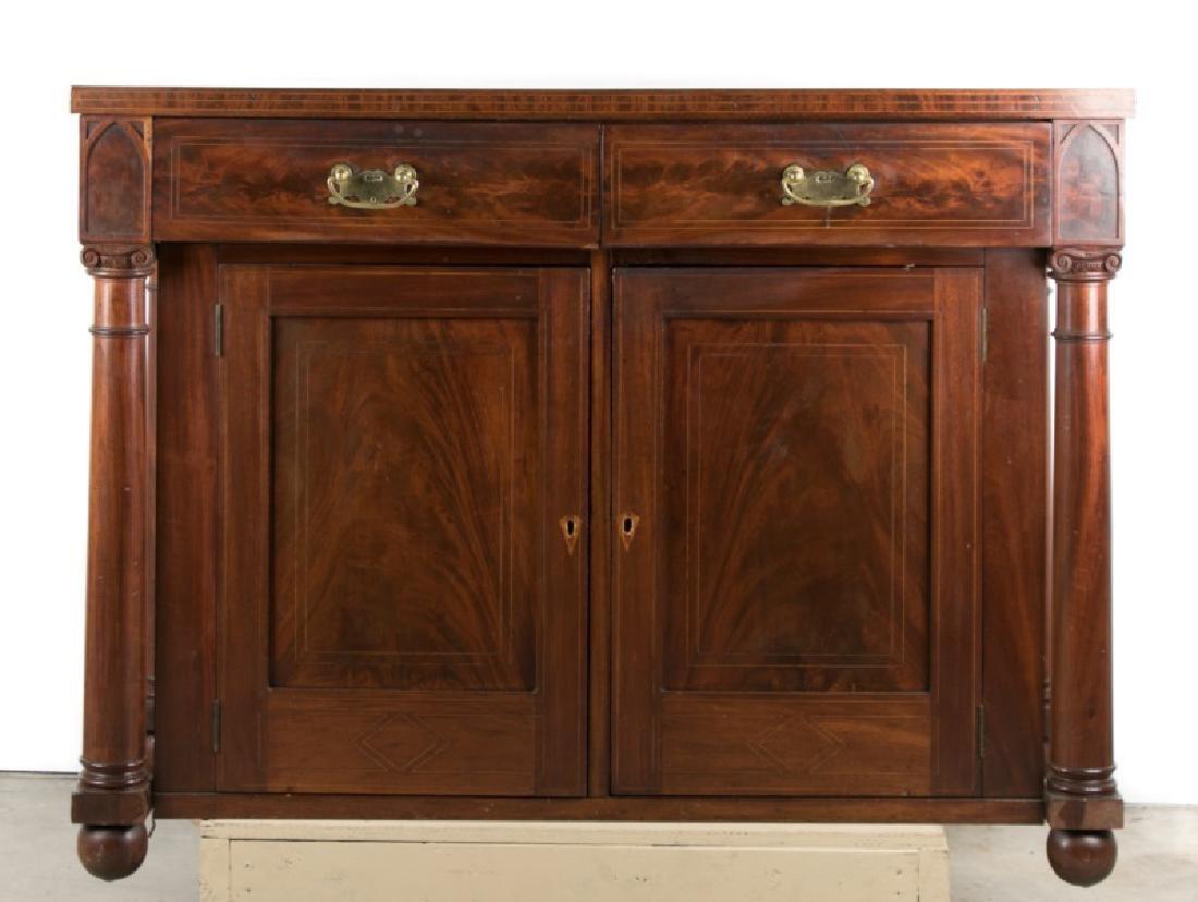 19th C. Empire Style Mahogany Sideboard