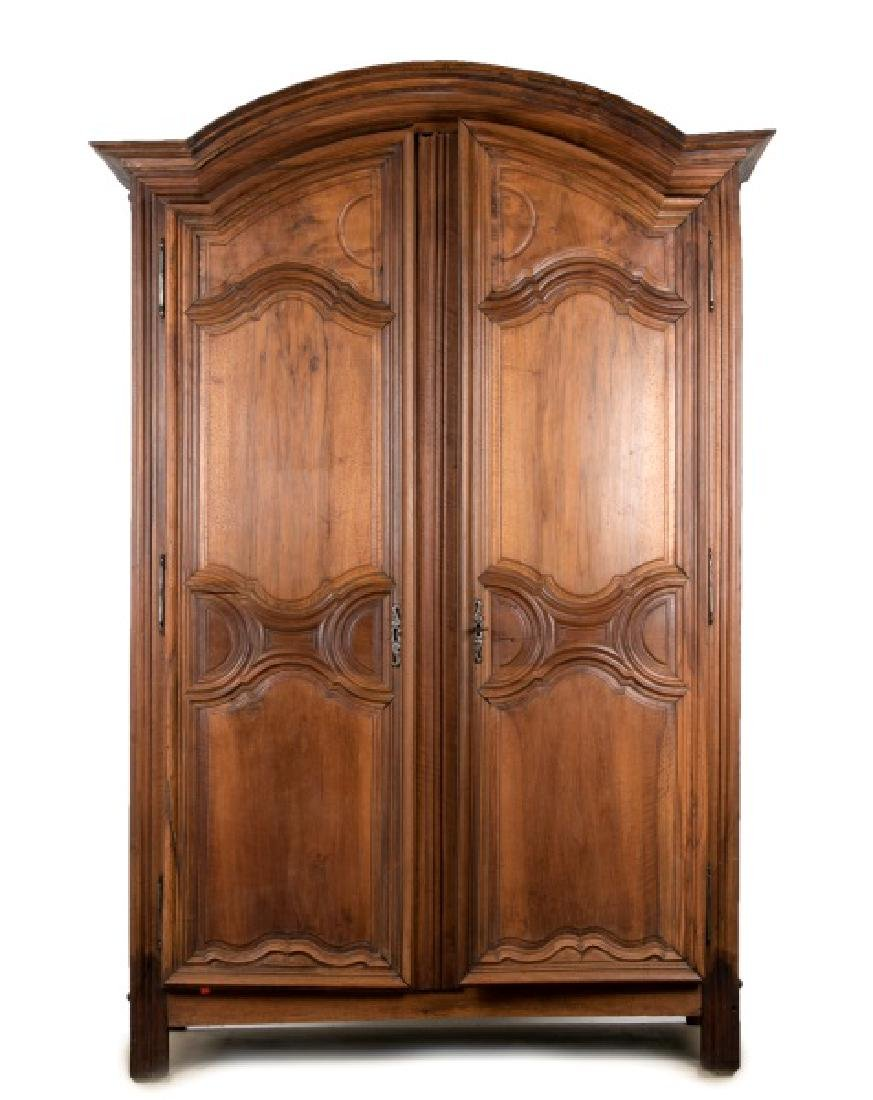 18th/19th Century French Walnut Two Door Armoire