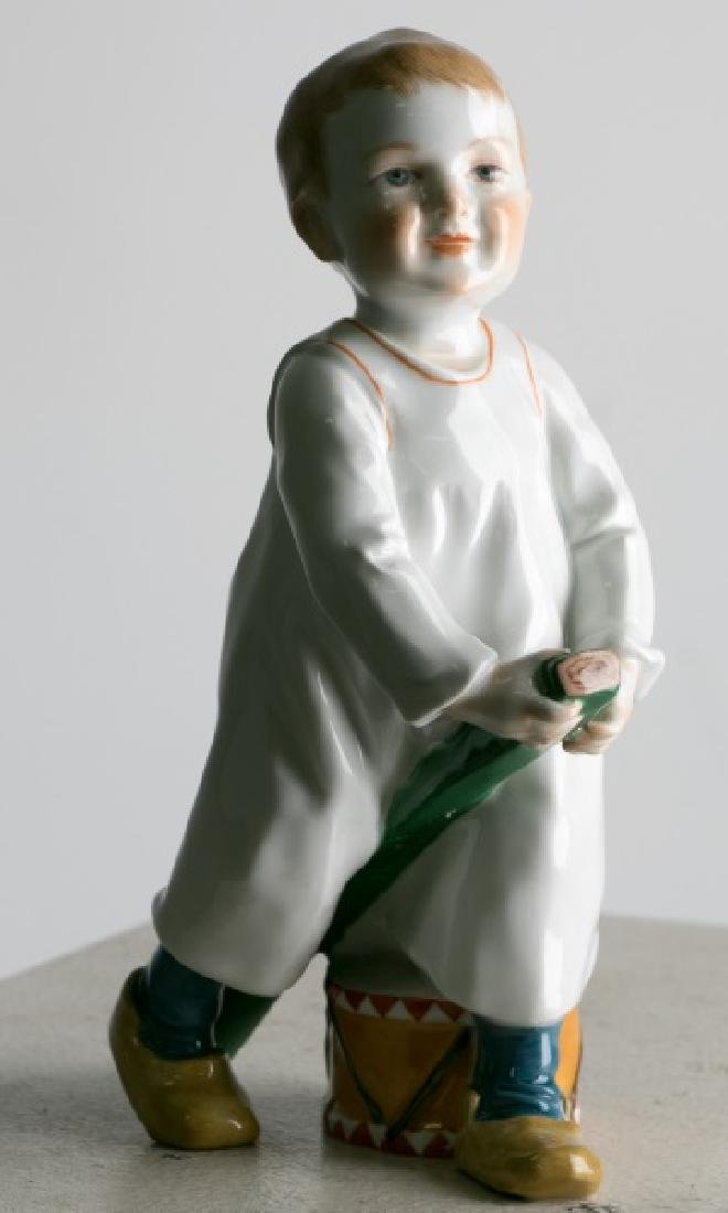 "Hentschel for Meissen ""Boy With Drum & Stick"""