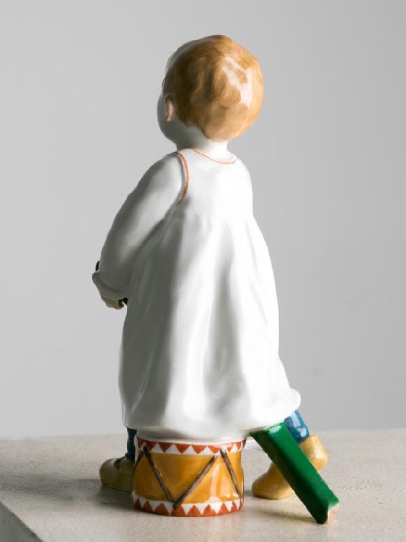 """Hentschel for Meissen """"Boy With Drum & Stick"""" - 2"""