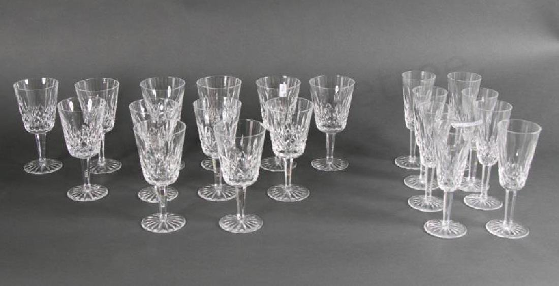 """20 pc Waterford """"Lismore"""": Red Wine & Champagne"""