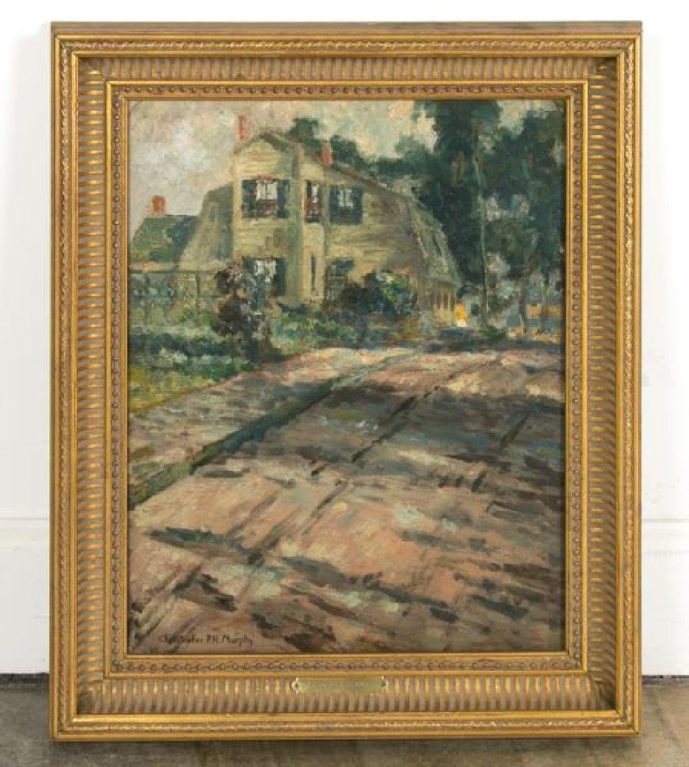 Christopher Murphy Signed Oil, Path with Cottage