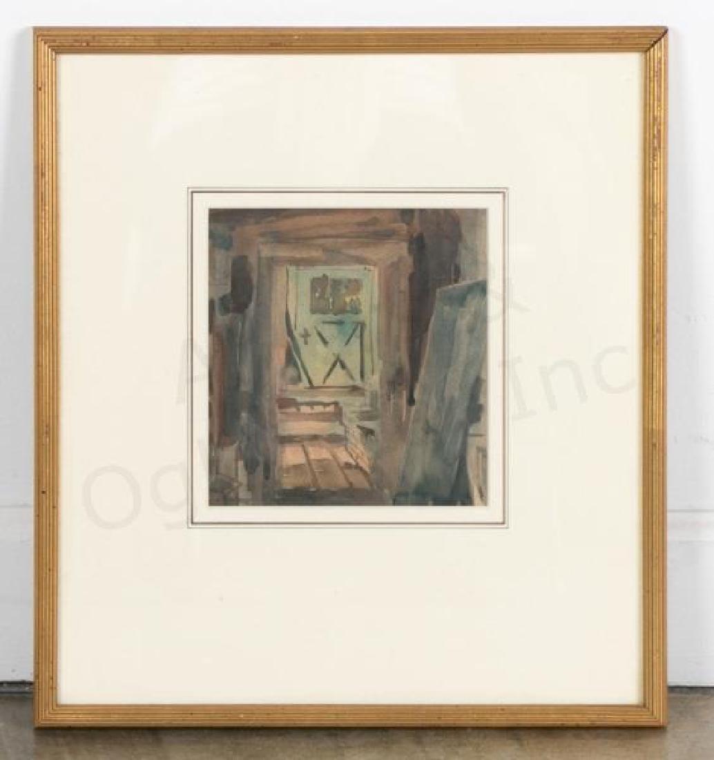 "Christopher Murphy, ""Rear of Shop"" Watercolor"