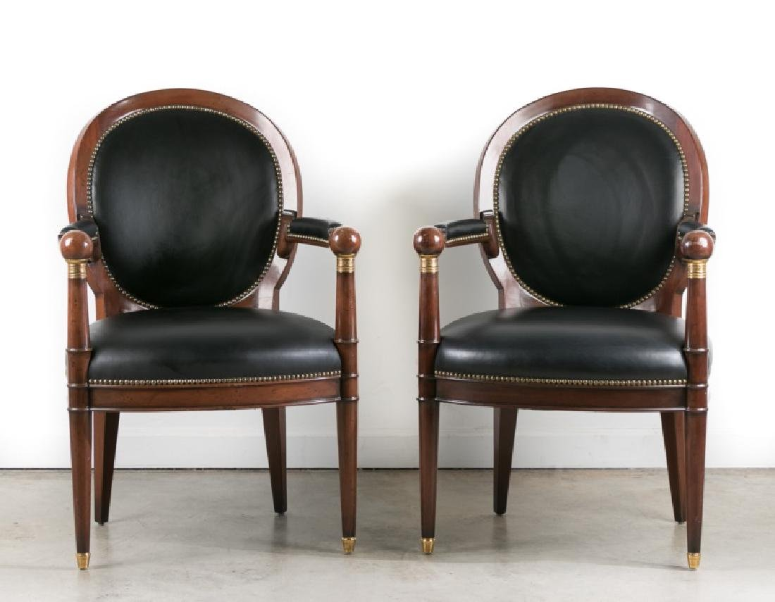Pair, Louis XVI Style Armchairs by William Switzer