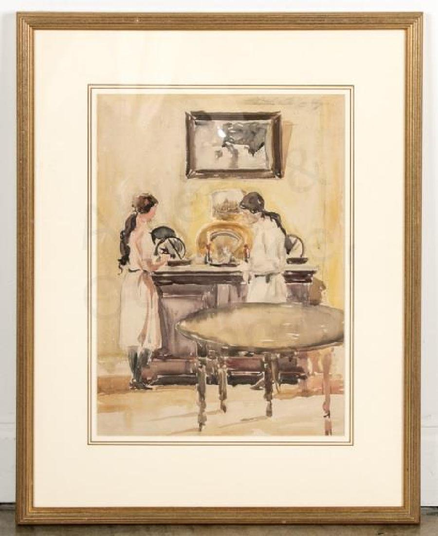 Christopher Murphy Watercolor, Artist Daughters