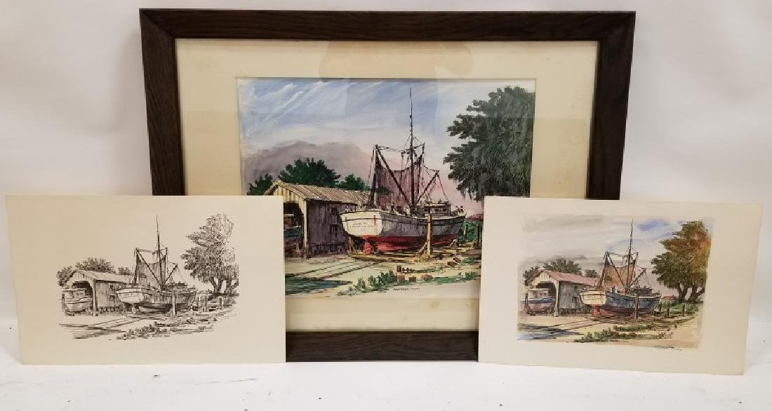 Group of 3 Christopher Murphy Etchings