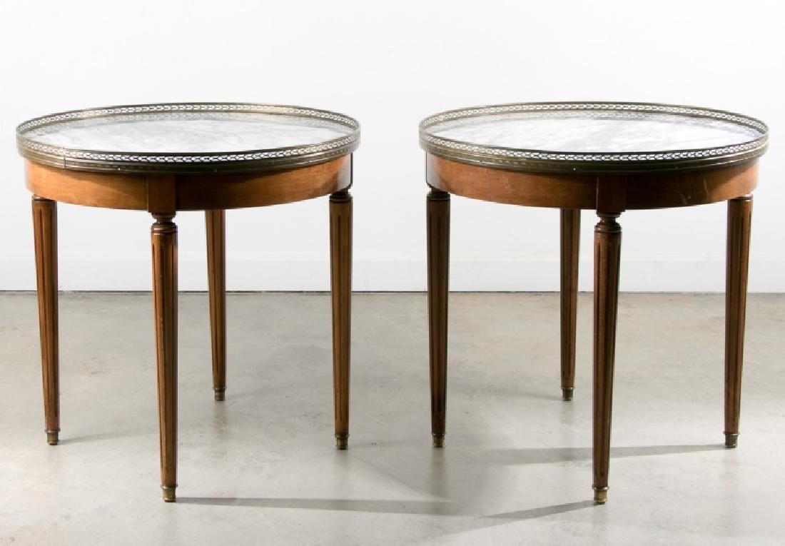 Pair of Louis XVI Style Gueridon Bouillotte Tables