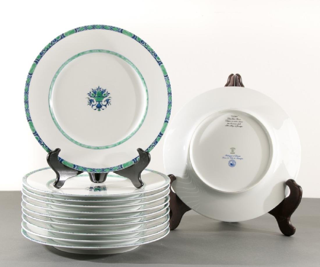 """11 Raynaud & Co """"Jumieges"""" Porcelain Plates"""