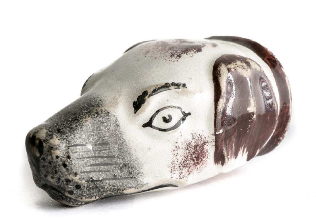 Staffordshire Hound Stirrup Cup c. 1800