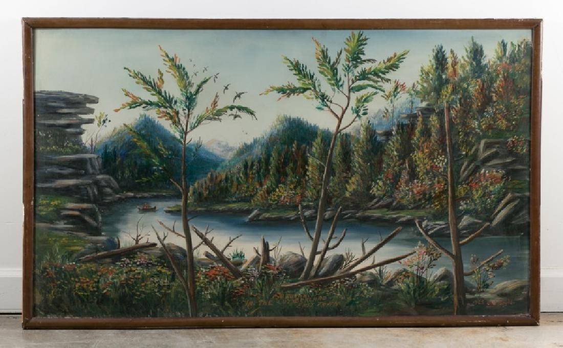 JG Hughes 1923 Regionalist Oil, Cumberland River