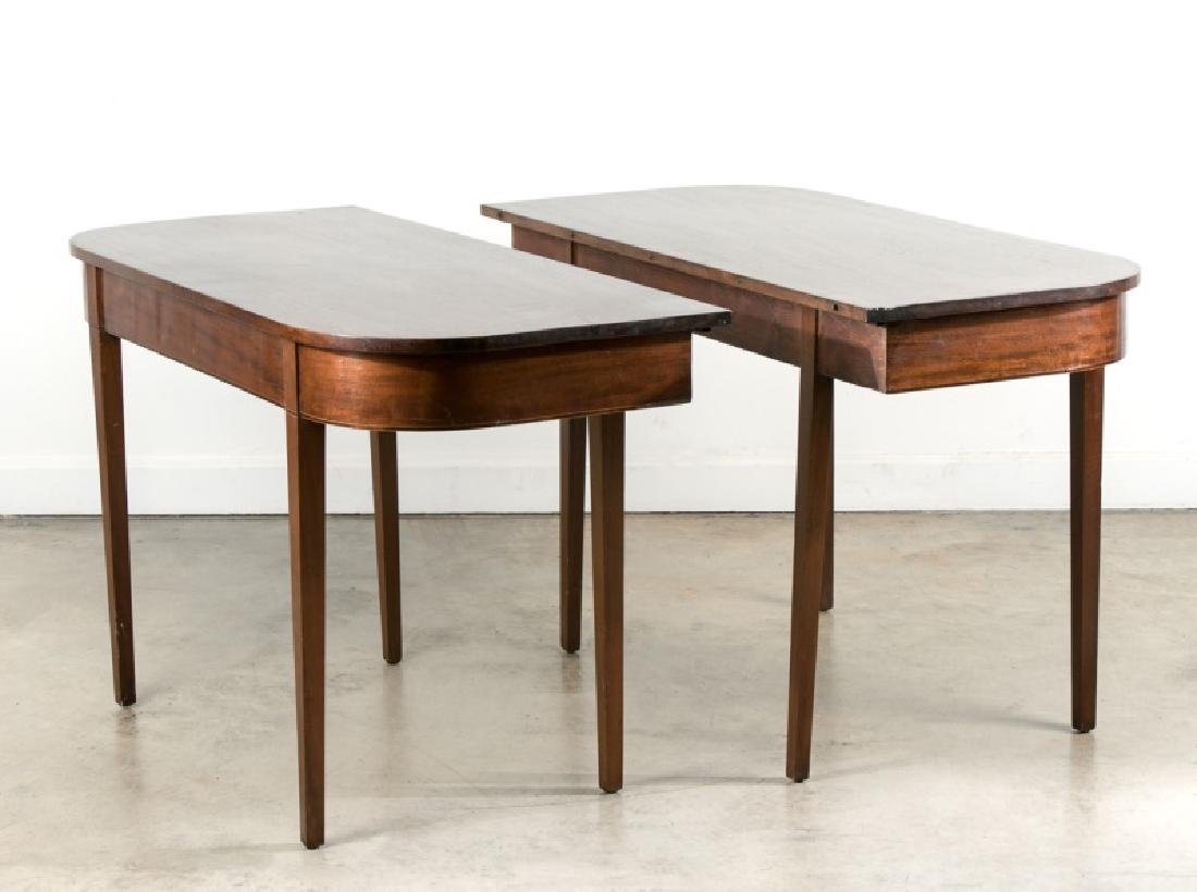 Pair, American Federal Style Banquet Ends, 19th C