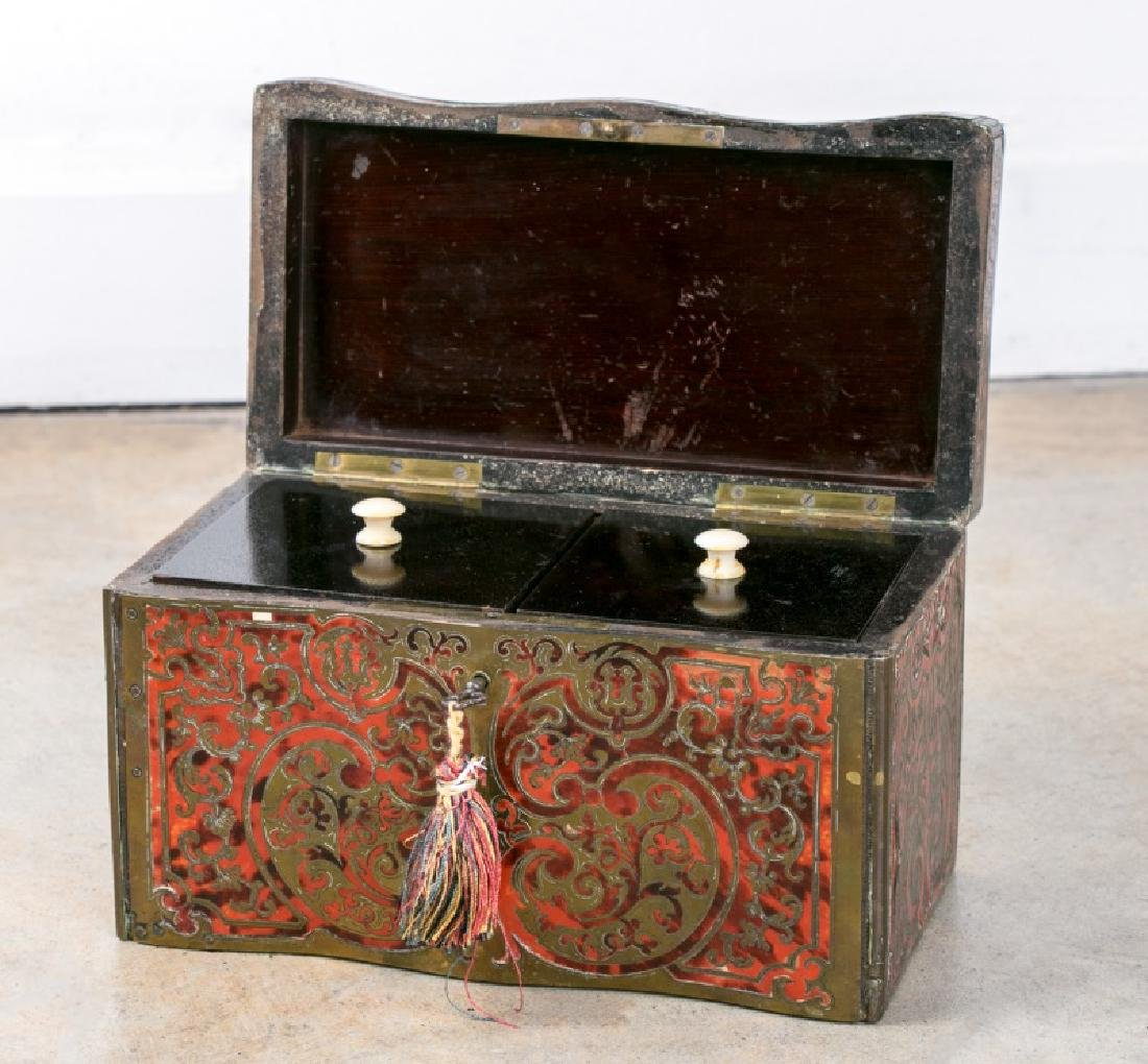 19th C. French Renaissance Style Boulle Tea Caddy