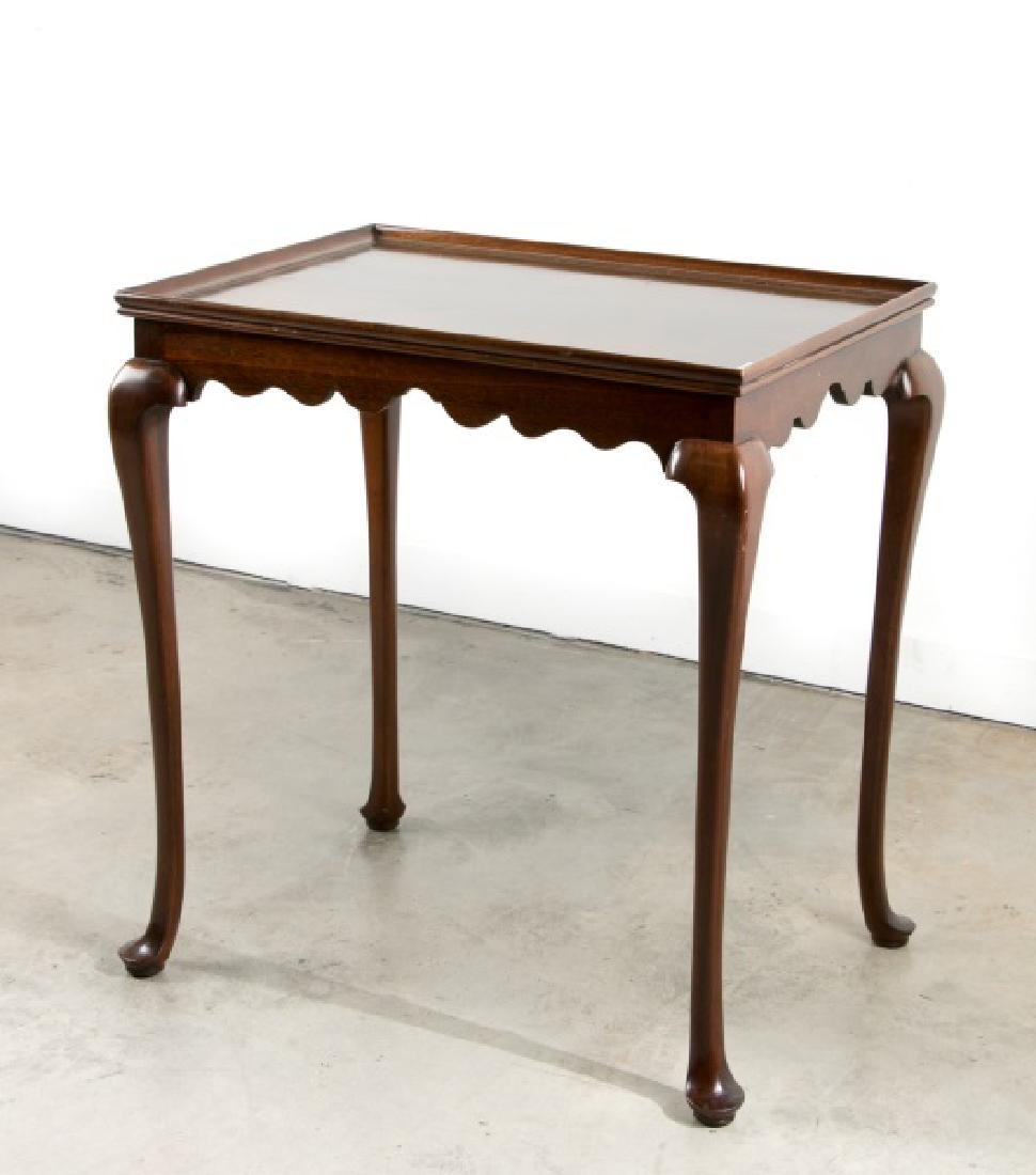 Kindel Queen Anne Style Mahogany Tea Table