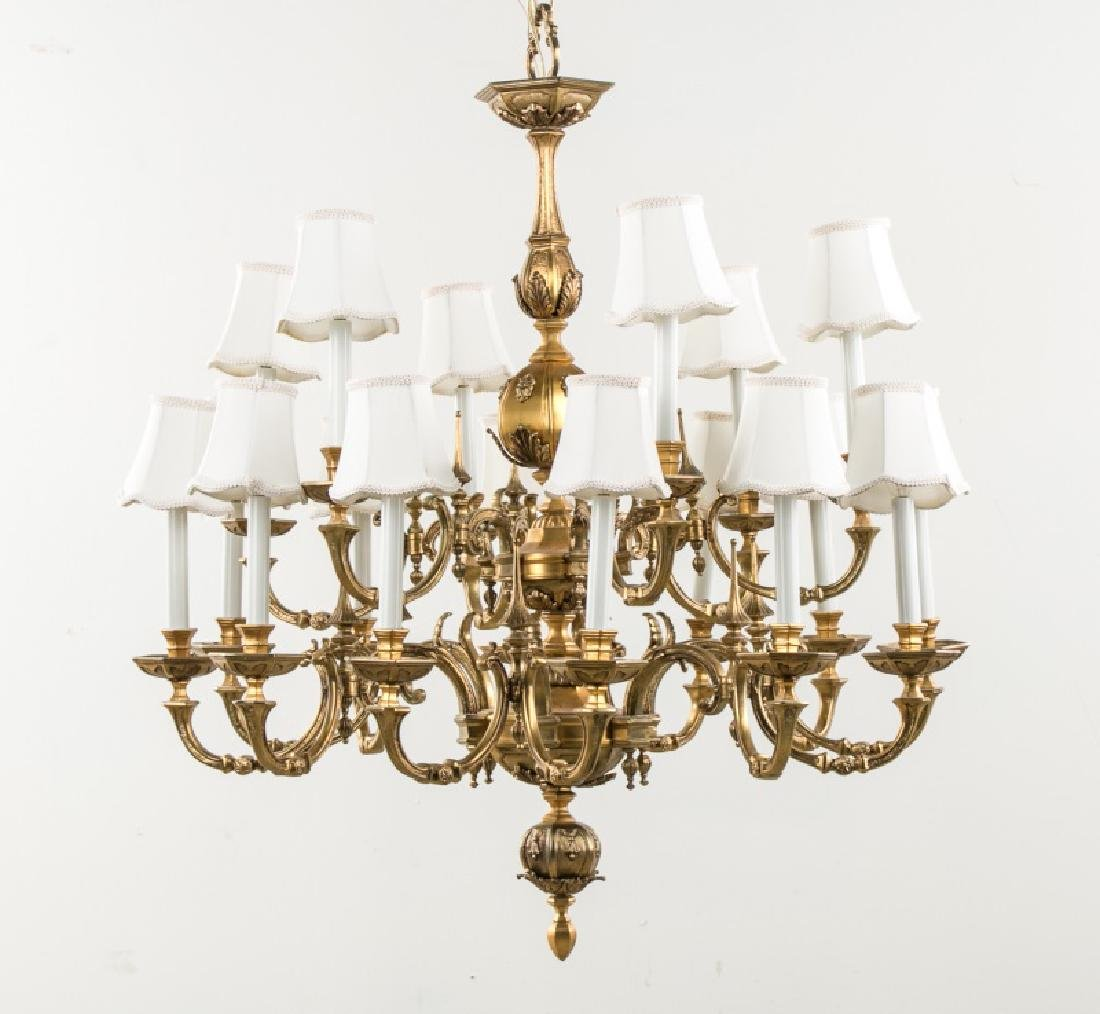 Continental Style Bronze 18 Light Chandelier