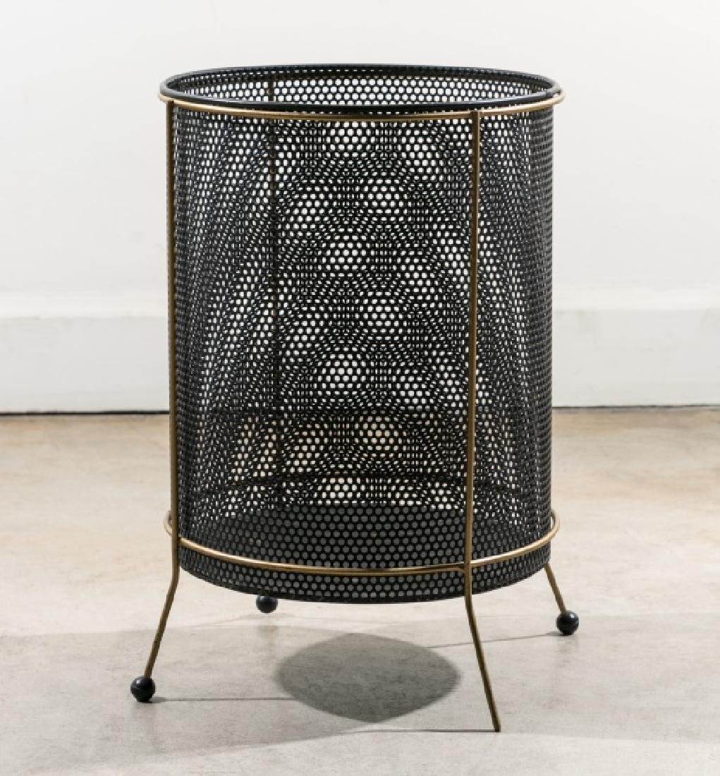 Mathieu Mategot Perforated & Painted Waste Basket