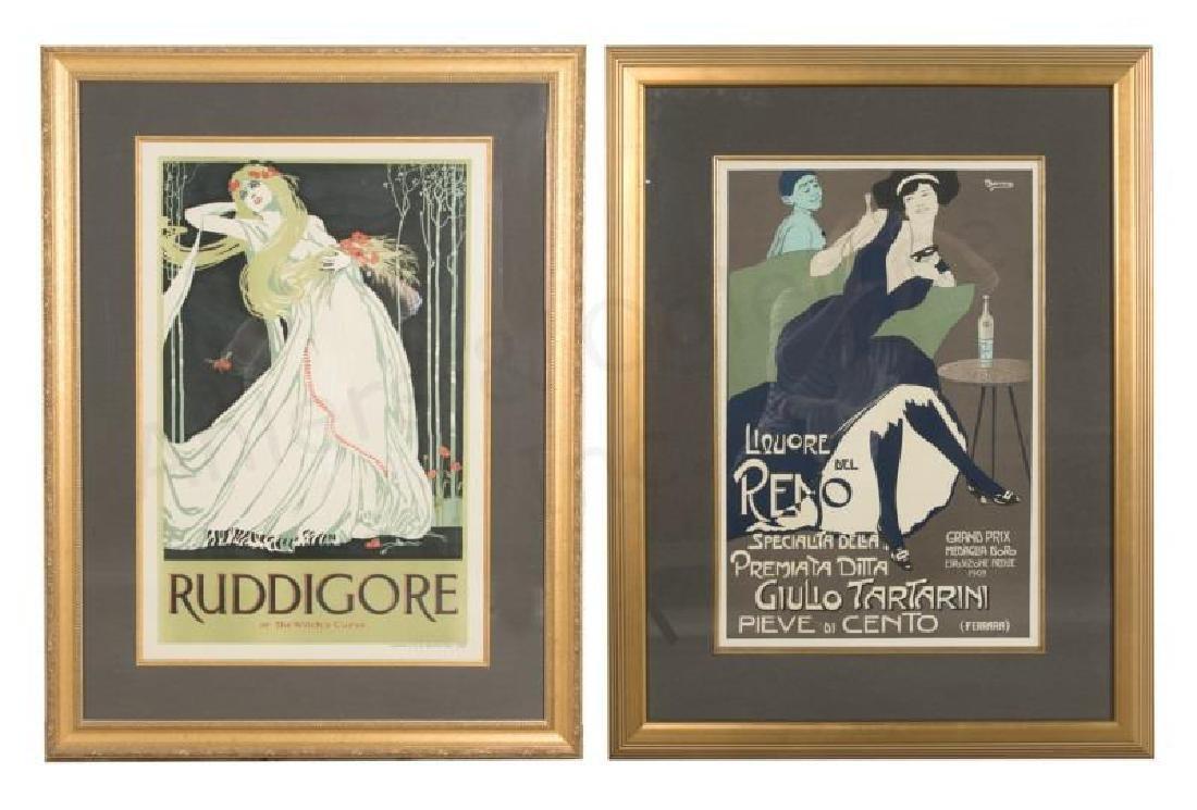 2 Vintage Ad Posters: Ruddigore & Liquore del Reno