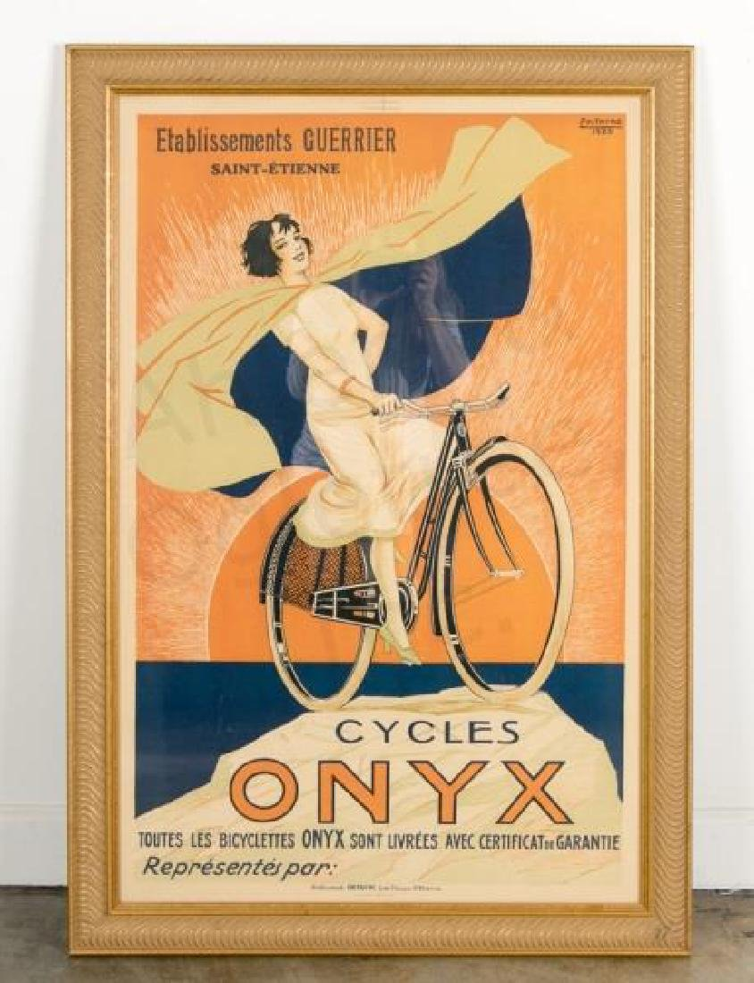 """1925 French """"Cycles Onyx"""" Advertising Poster"""