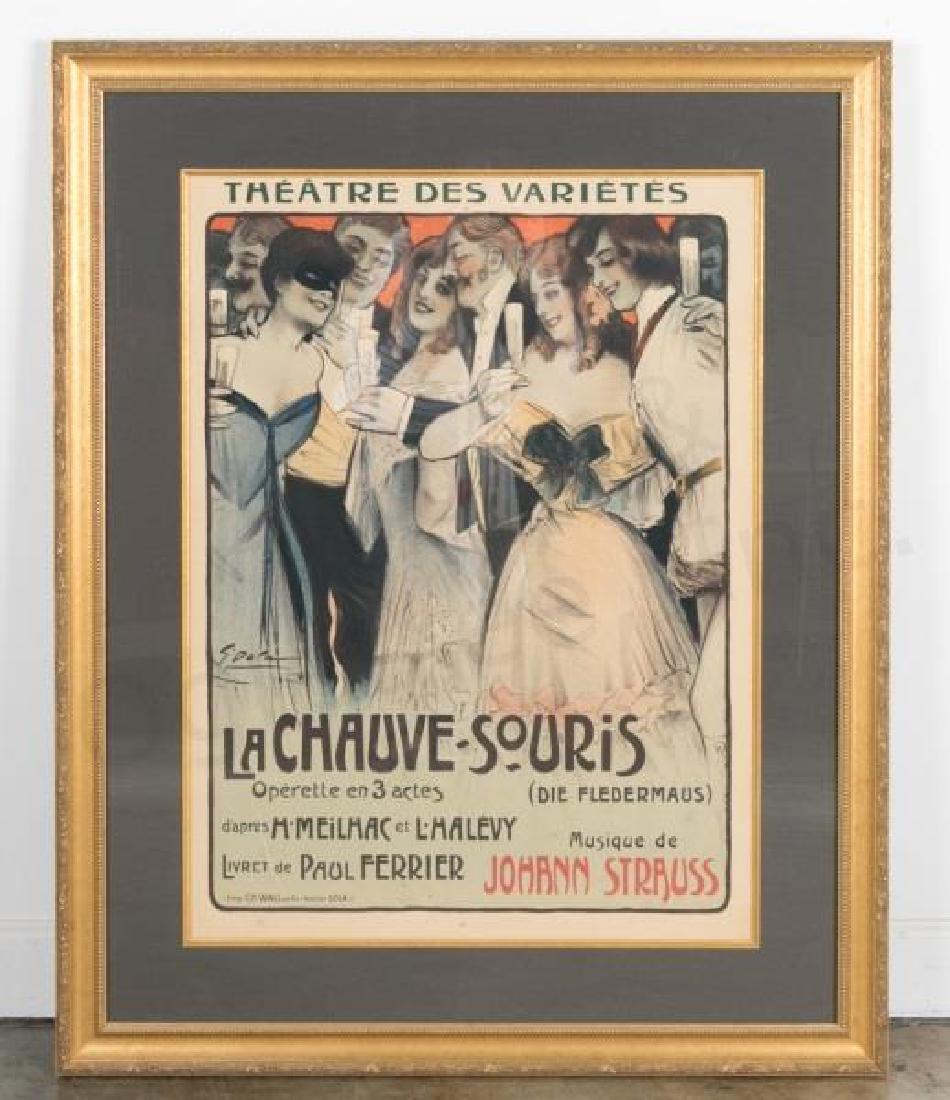 1903 Opera Advertising Poster, La Chauve-Souris
