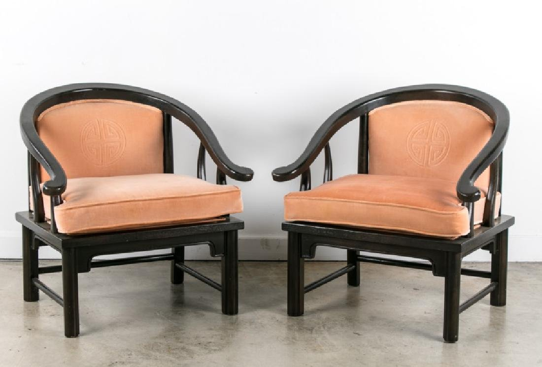 Pair of Century Furniture Ming Style Armchairs