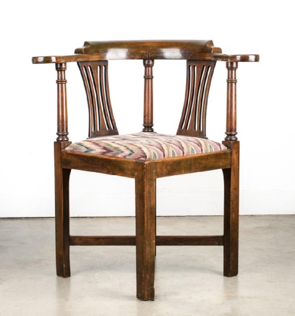 Chippendale Style Mahogany Roundabout Chair