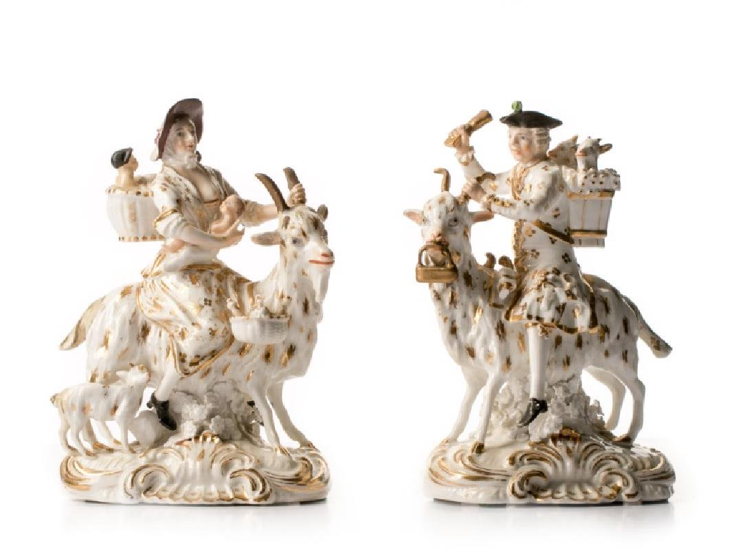 "Rare Pair Bloor Derby Figurines ""The Welsh Tailor"""
