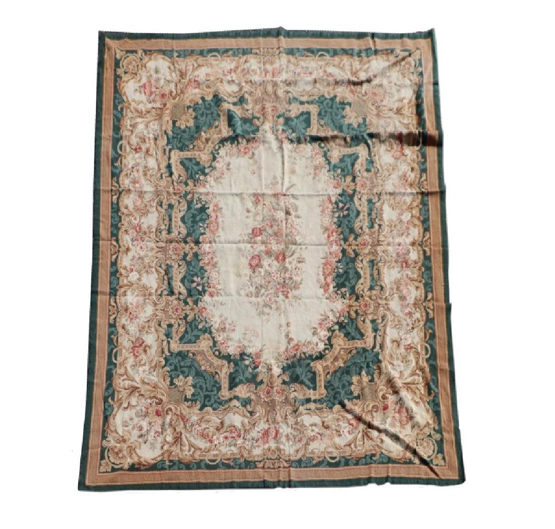 "French Aubusson Style Rug, 7' 7"" x 9' 9"""