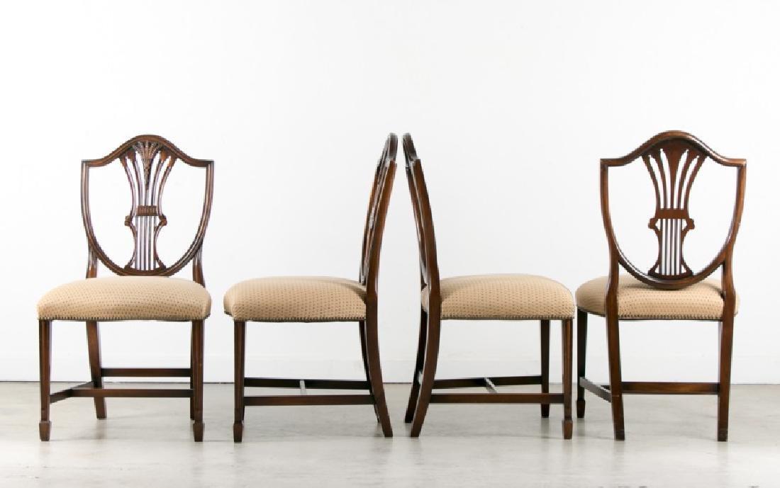 Set of 4 Georgian Style Mahogany Dining Chairs