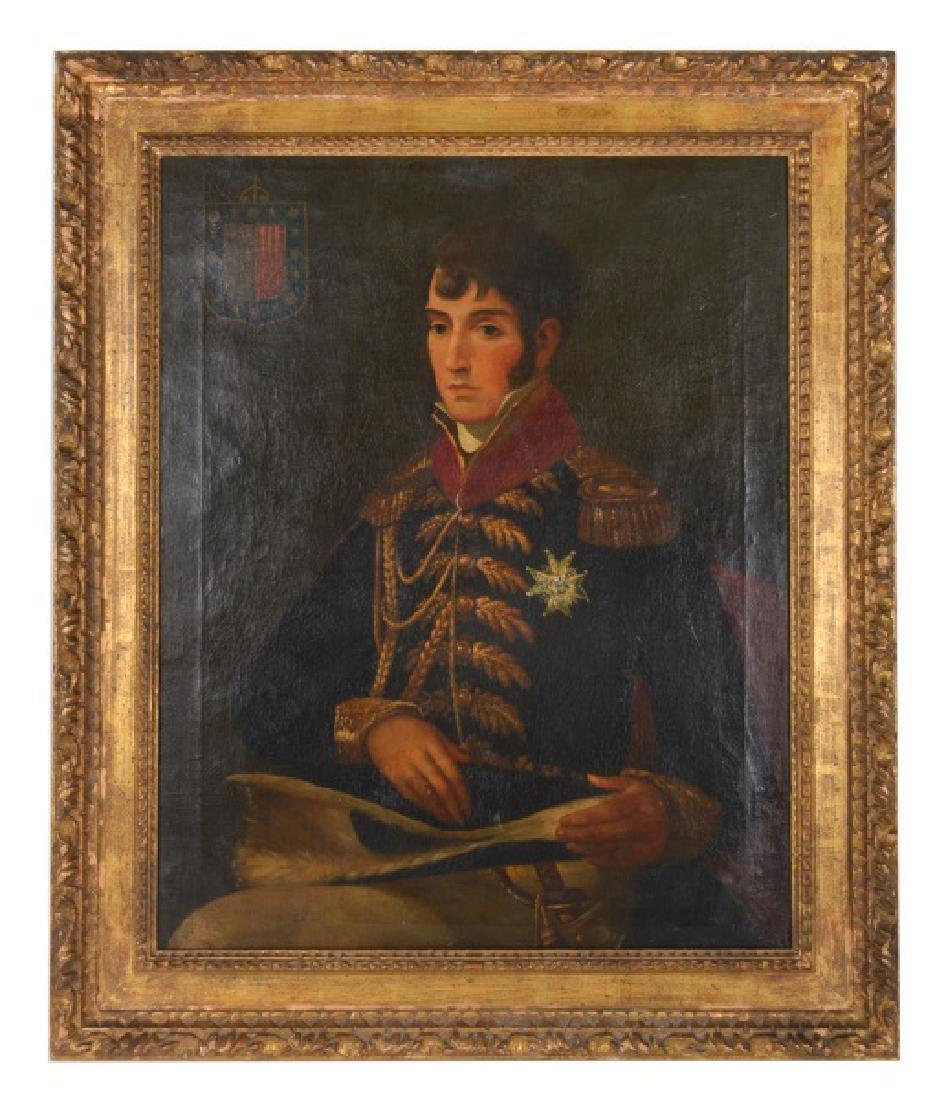 19th C. Portrait of a Gentleman in Uniform