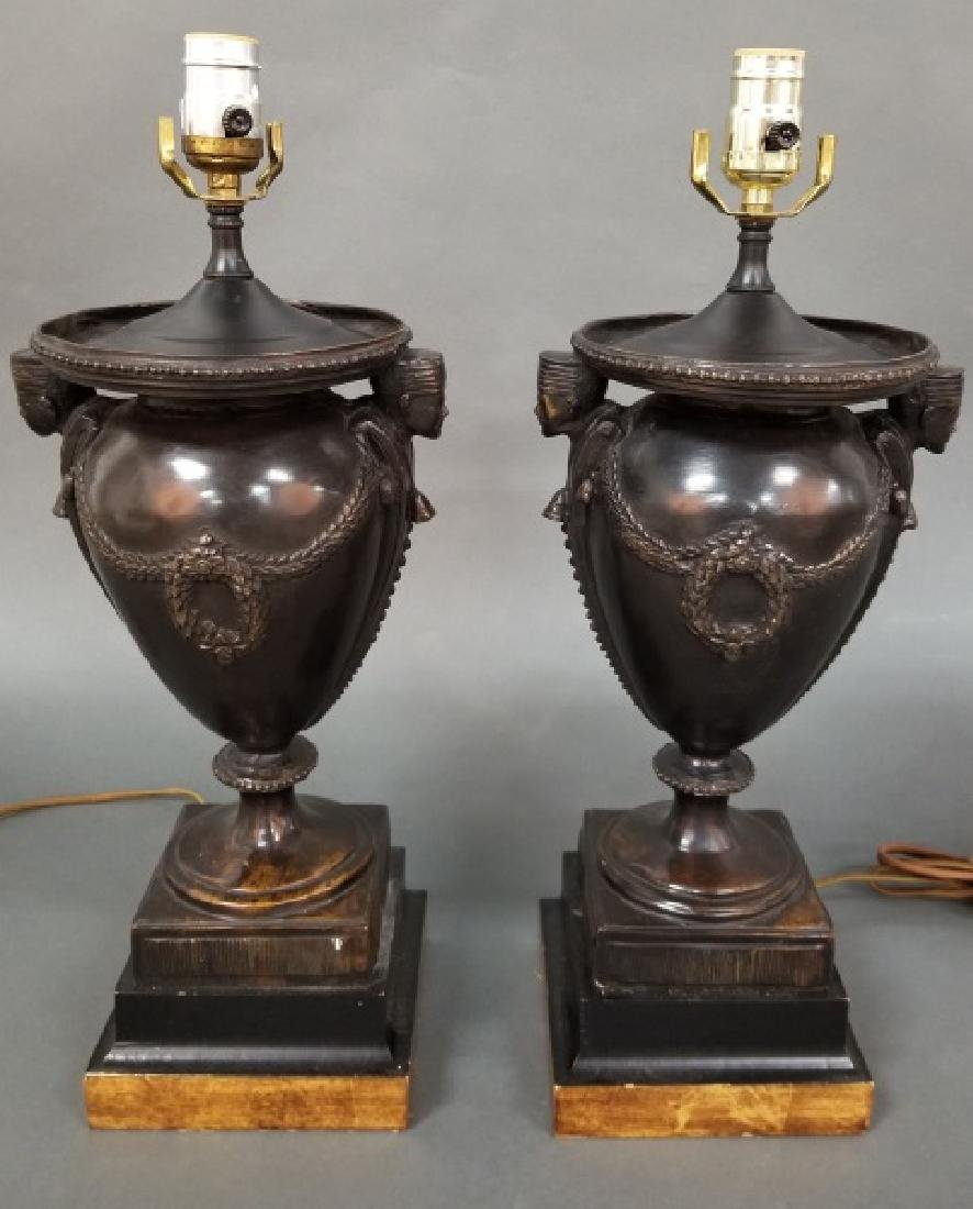 Pair of Neoclassical style Urn Form Table Lamps