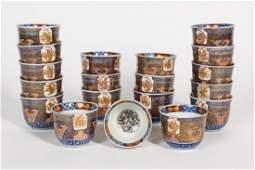 Set, 19 Chinese Export Imari Porcelain Cups