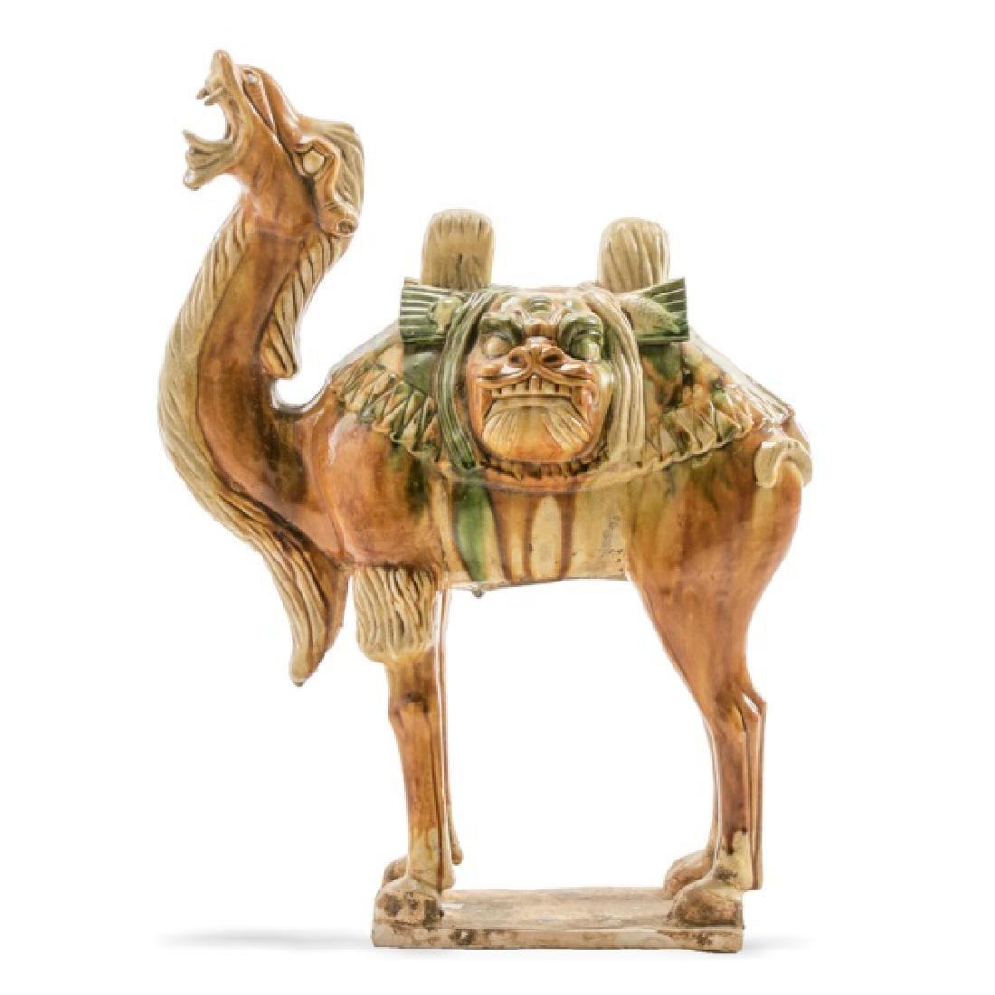 Tang Dynasty Style Sancai Glazed Bactrian Camel