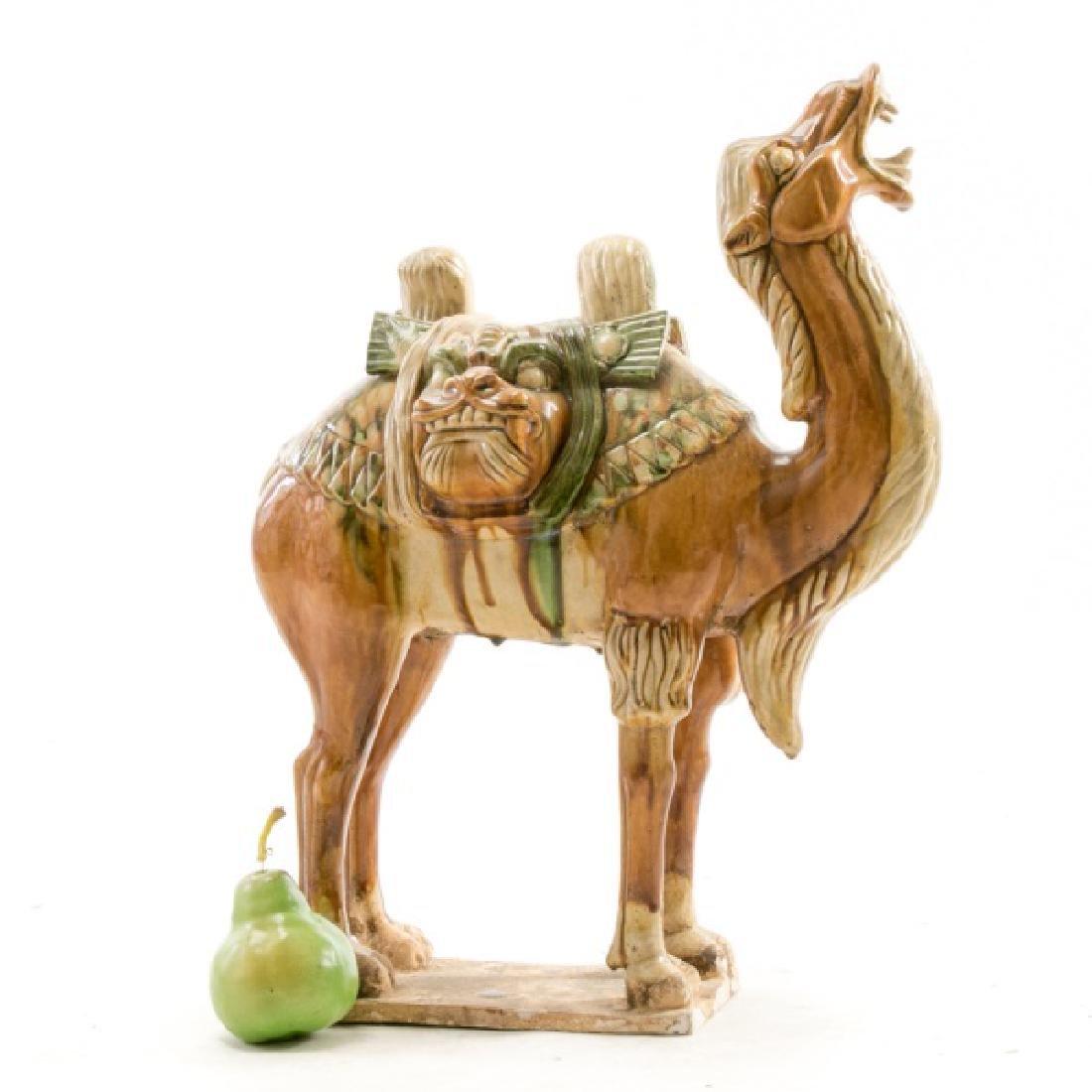Tang Dynasty Style Sancai Glazed Bactrian Camel - 2