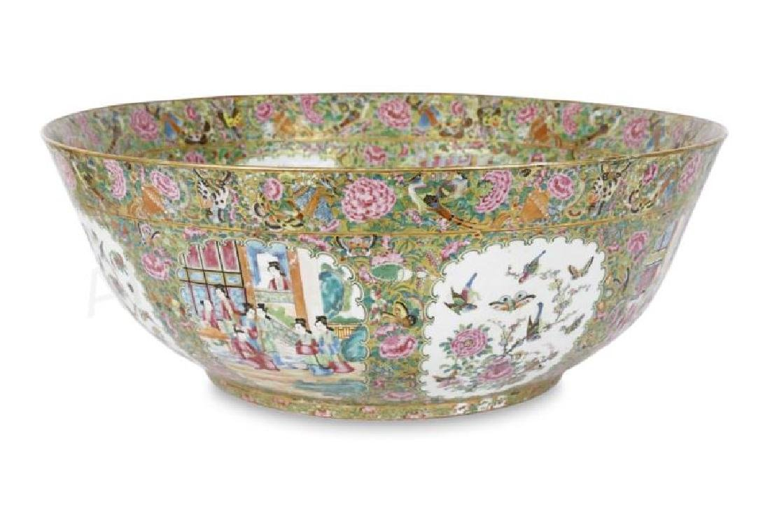 Palatial 19th C. Chinese Rose Medallion Bowl
