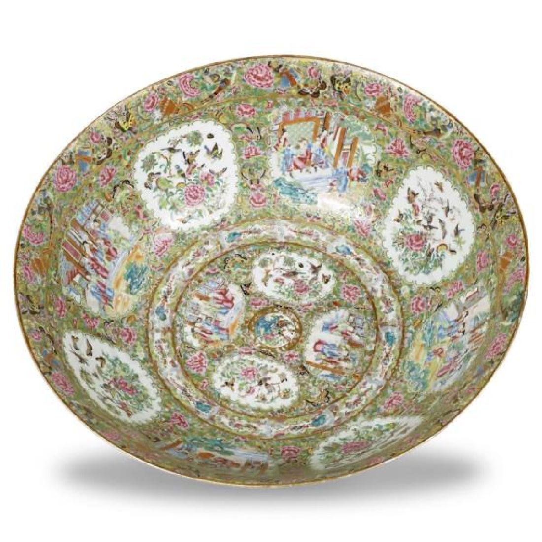 Palatial 19th C. Chinese Rose Medallion Bowl - 2