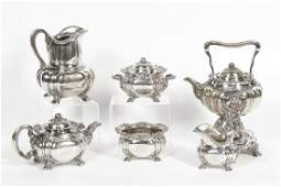 19th C Tiffany Chrysanthemum Sterling Tea Service