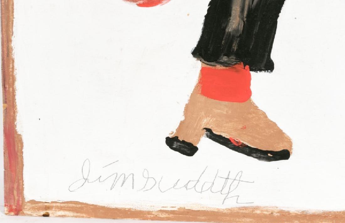 "Jimmie Sudduth Signed Folk Art, ""Guitar Man"" - 4"