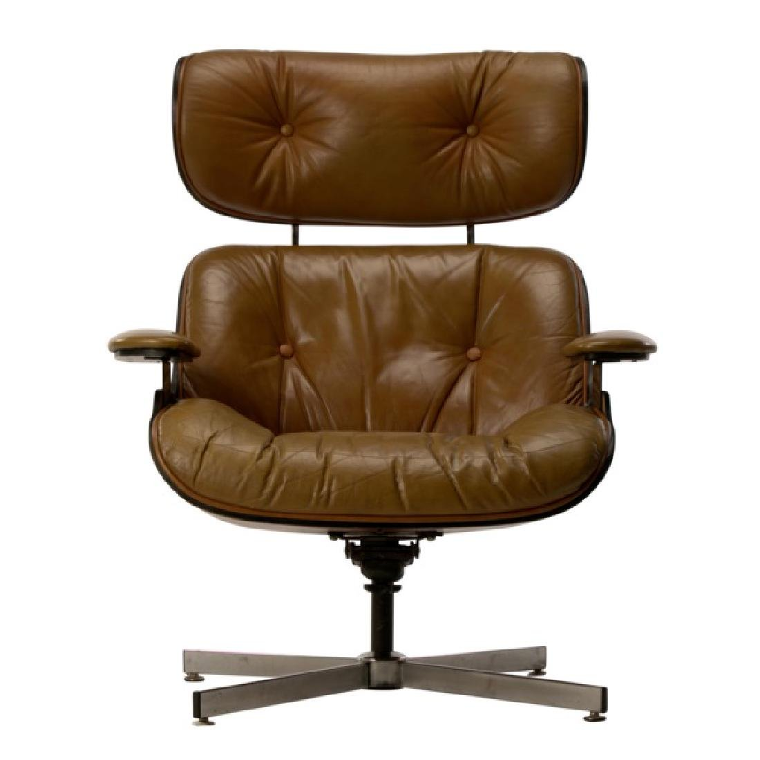 MCM Eames Style Rosewood Lounge Chair