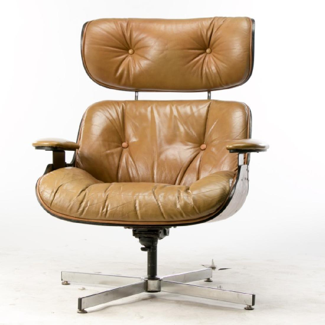 MCM Eames Style Rosewood Lounge Chair - 2