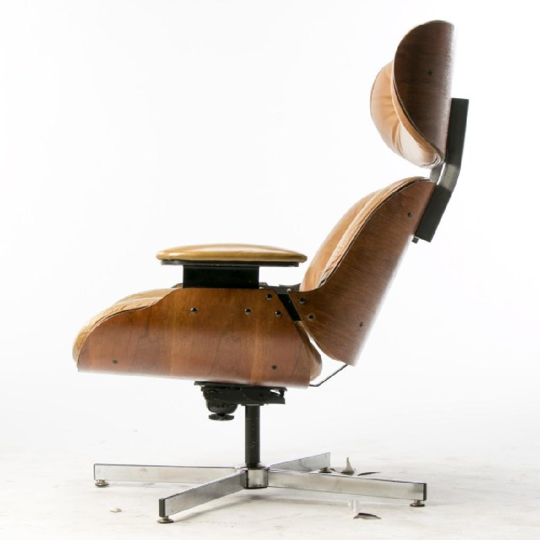 MCM Eames Style Rosewood Lounge Chair - 3