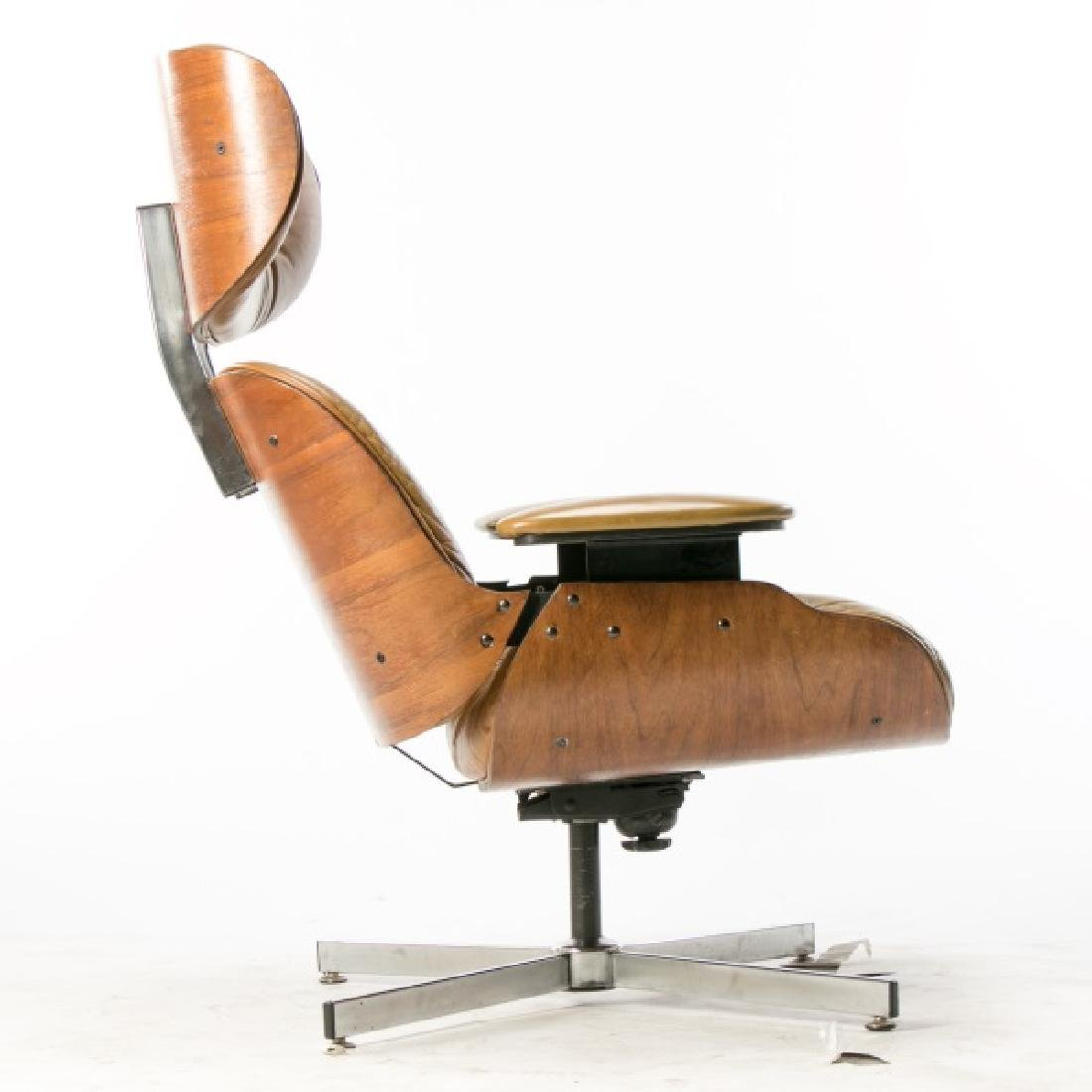 MCM Eames Style Rosewood Lounge Chair - 5