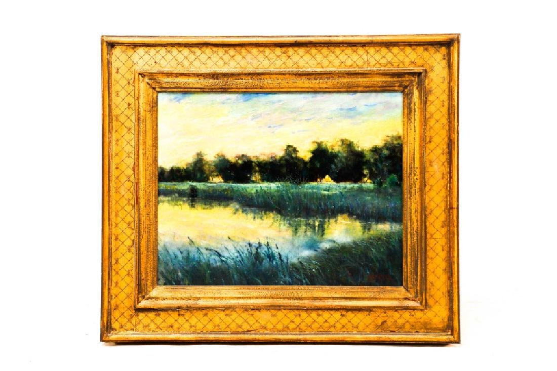 "Steven Stelz, ""Tonal Landscape"", Painting on Glass"